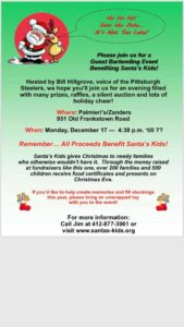 Guest Bartending Event to Benefit Santa's Kids @ Palmieri's / Zanders | Pittsburgh | Pennsylvania | United States