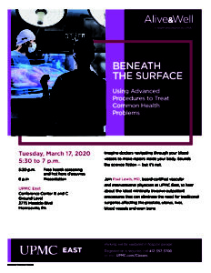 UPMC Presents ALIVE & WELL:  Beneath the Surface @ UPMC East - Conference Center B and C