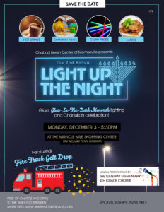 Chabad Jewish Center of Monroeville presents:  The 2nd Annual LIGHT UP THE NIGHT @ Miracle Mile Shopping Center | Monroeville | Pennsylvania | United States