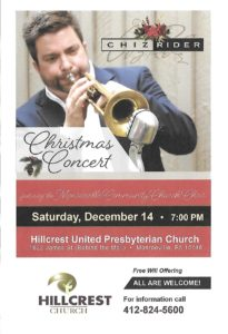Christmas Concert with Chiz Rider @ Hillcrest United Presbyterian Church