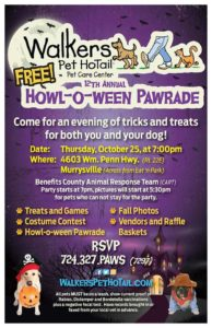 Walkers Pet Hotail 12th Annual Howl-O-Ween Paw*ty @ Walkers Pet HoTail | Murrysville | Pennsylvania | United States