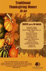 Traditional Thanksgiving Dinner TO GO @ DoubleTree Hotel | Monroeville | Pennsylvania | United States